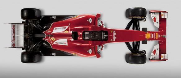 El F14T visto desde arriba Foto: Ferrari.com