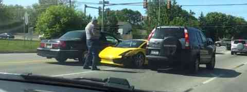 Lamborghini accidentado. O cómo no conducir un coche de alta cilindrada.